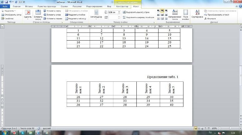 📝Как оформить таблицу  и указывают номер таблицы таблица 13